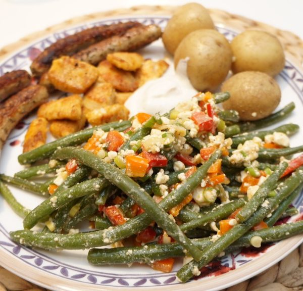 Bohnen-Feta-Salat