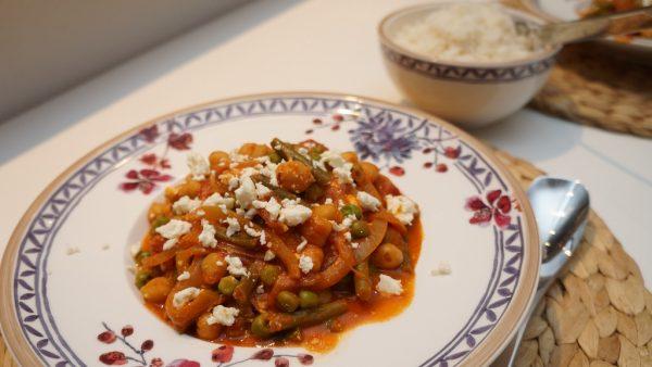 Kichererbsen-Curry mit Feta