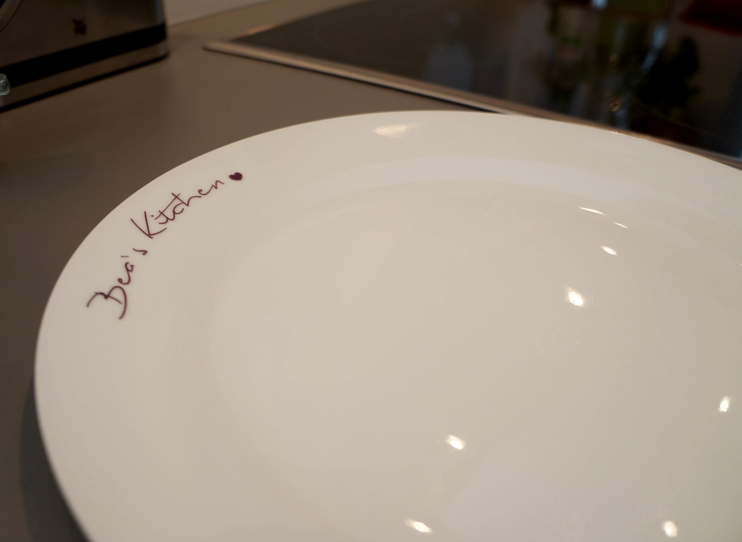 personalisierter Teller